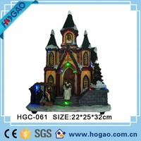 Wholesale Christmas nativity set lighted houses