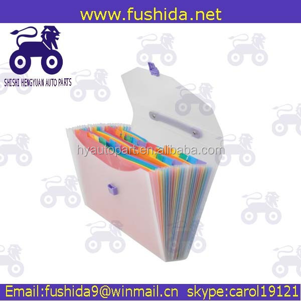 Letter size plastic expandable hanging file folders