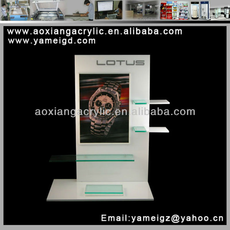 2015 OEM acrylic watch display stand/watch holder with enclosed your product pictures