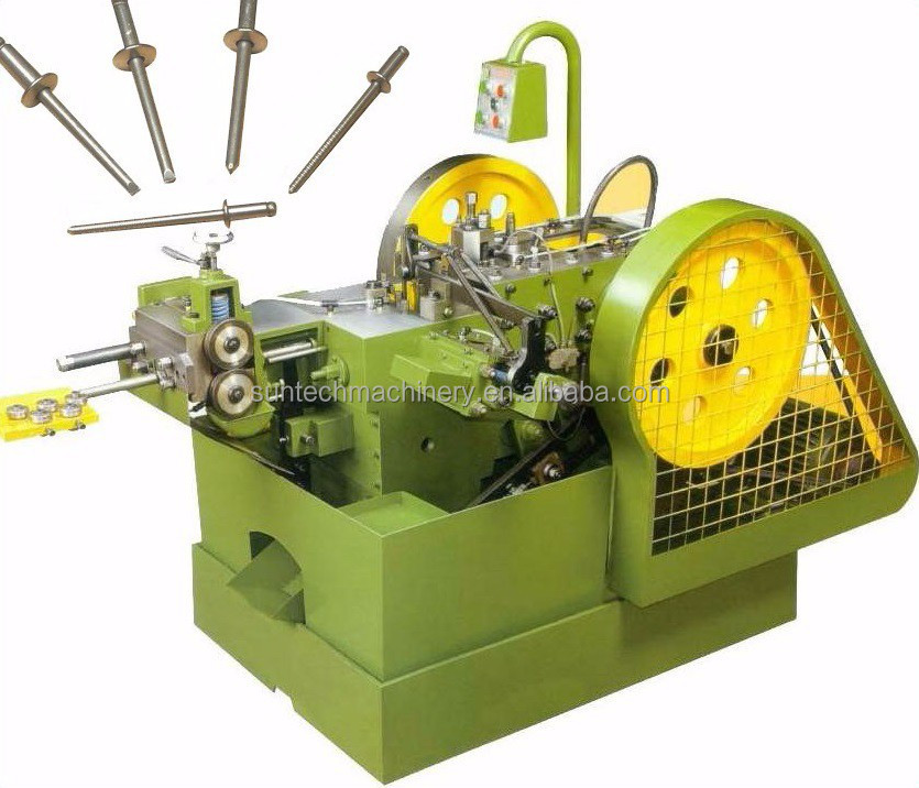 Full automatic rivet heading machine with high speed