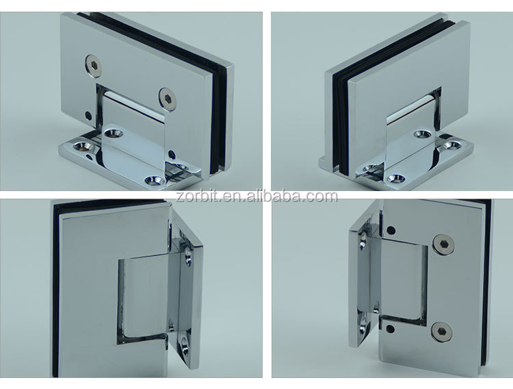 China wholesale shower enclosure 90 degree double side glass door hinge