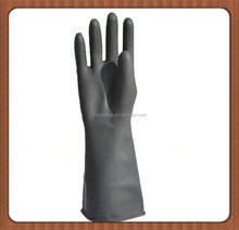 High Quality Safety Low Prices Latex Gloves Cheap Latex Gloves/Black Long Sleeve Orange Lined Anti Acid Industrial Latex Glove