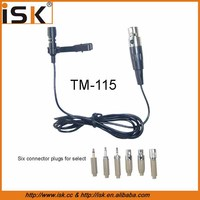 Professional best lavalier microphone wired lapel microphone TM-116