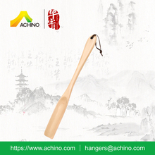 ACHINO High Quality Natural Finish High Solid Wood Shoe Horn for Hotel Supplies