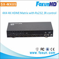 Good quality 4x4 hdmi matrix 1.4 switch splitter hd 4k 2k 1080p with RS232 port and IR