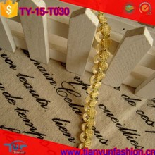 yellow polyester woven upholstery china gold metallic fabric braid trimming