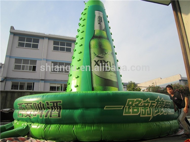 PVC material inflatable rock climbing wall sale