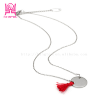 stainless steel nacklaces fish style lady necklaces