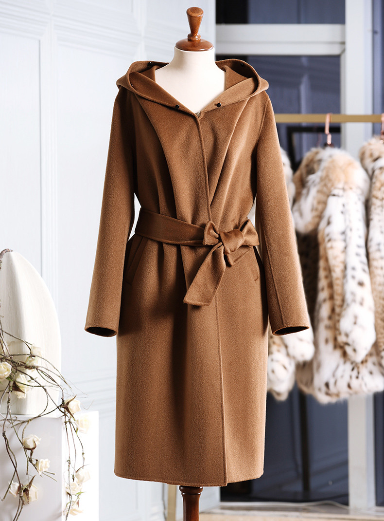 High Quality Double-Face Wool-Cashmere Trench Coat