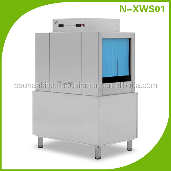 (BN-XWS02+H) Cosbao commercial drying conveyor type dishwasher equipments for restaurants