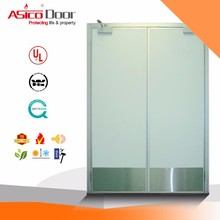 ASICO UL Listed Fire Rated Double Leaf Swing Hotel Doors For Commercial