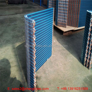 2016 Hot selling air cooled copper condenser with 9.52mm tube