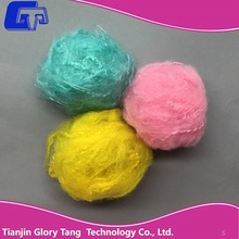 Price for spinning use solution dyed colored recycled polyester staple fiber