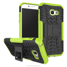 Rugged soft rubber TPU guard phone case for Samsung Galaxy A5 2017 stand tyre armour