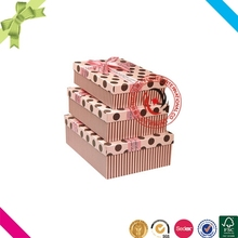 Lovely hot sale cardboard packaging guess gift box with lid