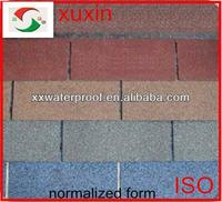 low price colorful asphalt shingles for roofing
