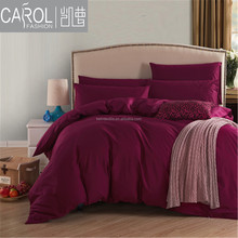 Color 100% cotton hotel bed sheet set home use