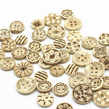 Decorative Fancy Wooden Buttons Bulk, Coconut Shell Button, Children Button