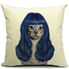 2015 China factory direct supply alibaba selling well fashion super soft 100% cotton cat Cheap Cushion Covers