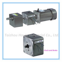 Cluch and Brake for AC/DC reduction geared motor