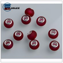 Red color manufacture beads large hole beads new design cheap wholesale beads for wedding dress