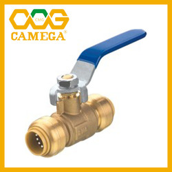 "Lead Free Brass Push Fit Ball Valve 1/2"" 3/4"" 1"""
