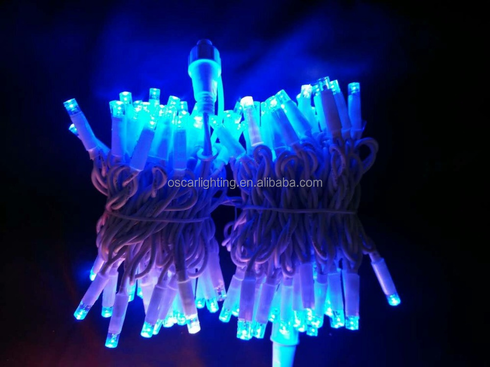 220-240v outdoor rubber cable led christmas stringlights 10m100L