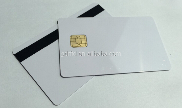 J2A040 J2A080 java Contact IC Card With slim Magnetic strip silver and black