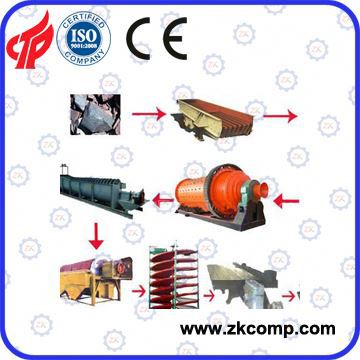 Gold, silver, copper, lead, zinc ore flotation beneficiation plant, with high concentrate (Factory offer)