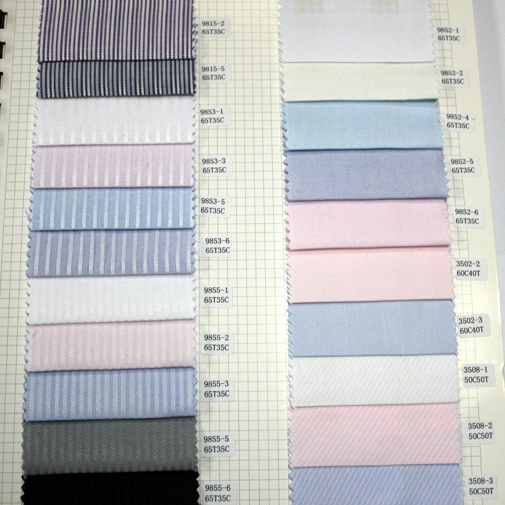 Wholesale 65T 35CO Striped Uniform Shirting Fabrics