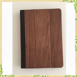 2016 New arrival wooden genuine leather flip case for ipad pro 9.7 case
