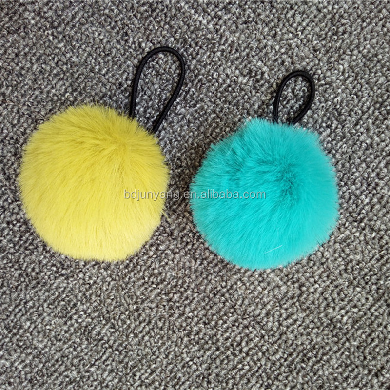 new design synthetic fur pompom mini faux fur pom poms