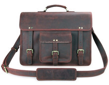 7234R New Arrival Vintage Leather Men's Dark Brown Messenger Bag Men Document Handbag, Sling Bag