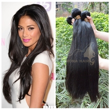 Cambodian straight human hair extensions soft and free hair products