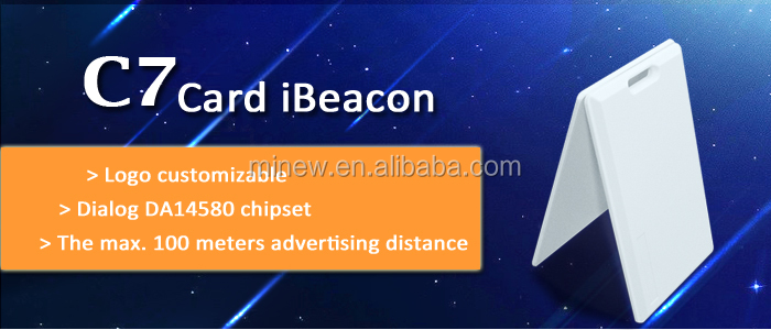 High quality ultrathin waterproof card ibeacon, ble ibeacon card