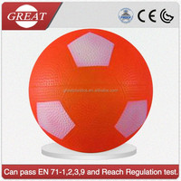 PVC inflatable orange soccer toy ball