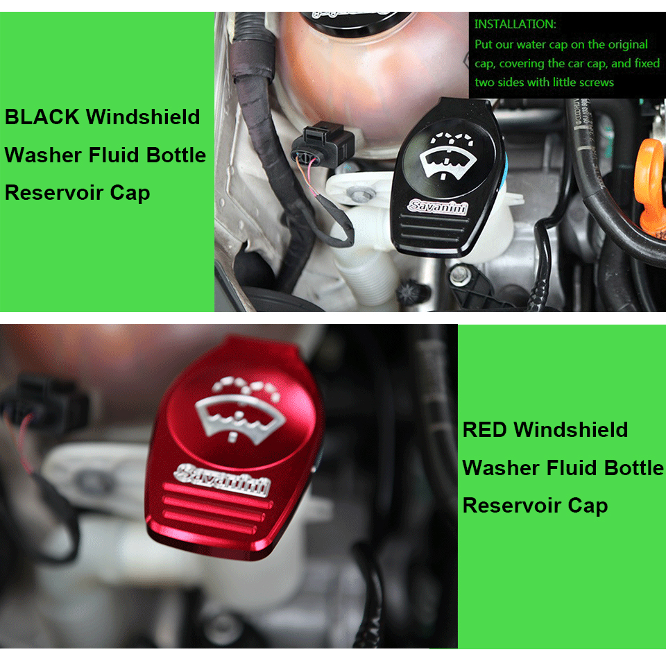 High-quality Aluminum Windshield Washer Fluid Bottle Reservoir Cap for VW cc Golf 6 gti R mk6 mk7 Scirocco EA888 Engine