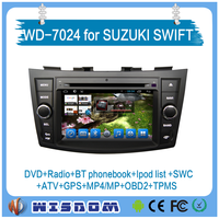 2016 Wisdow 2 din car dvd player and car gps navigation for Suzuki Swift gps tracker DVD, GPS, Radio, Bluetooth