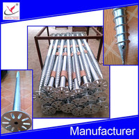hot dipped galvanized helical screw pile for solar power system foundation