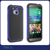Football grain TPU + silicon + PC back cover case for htc one m8