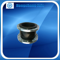 high temperature reistant single sphere steam rubber expansion joint with flange end