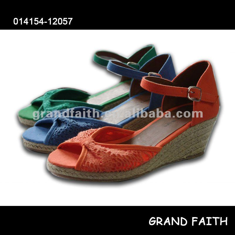 Ladies' Wedge Espadrille Sandals