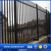 PVC Coated Welded Wire Fencing Panel Mesh Palisade Fences And Gates