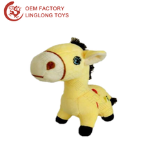 Promotional The Chinese Zodiac Horse Year Plush Horse Toy Yellow Chinese Zodiac Lucky Animal Pony Doll