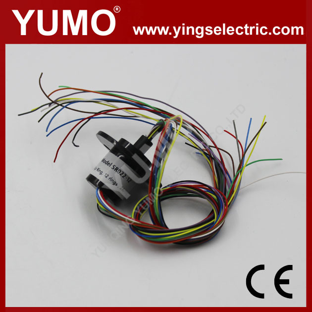 YUMO SRC022-12 dia 22mm 12rings 2A electrical contacts Capsule slip ring conductive ring