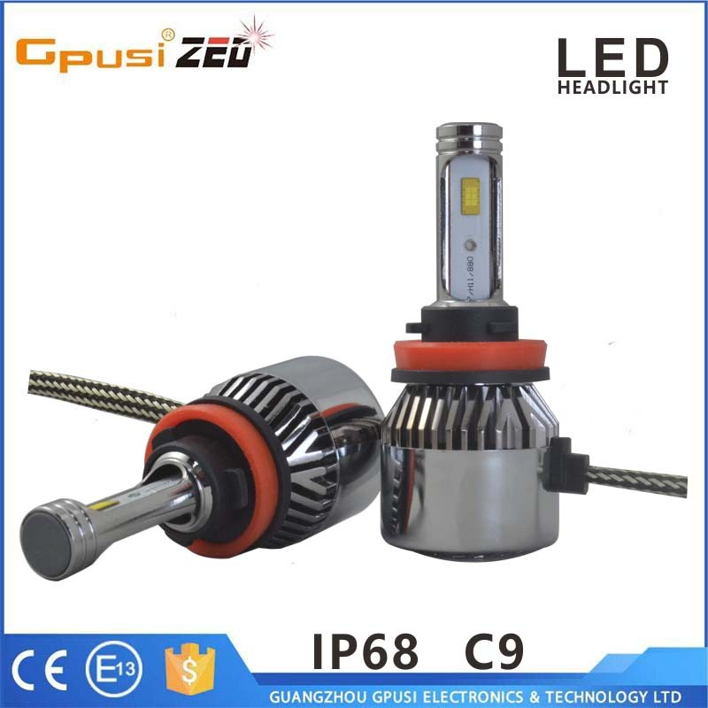 New Driverless 36W 3800LM h1 h4 h7 h9 h11 c9 n1 led headlight car led bulb replace halogen bulb for toyota vios