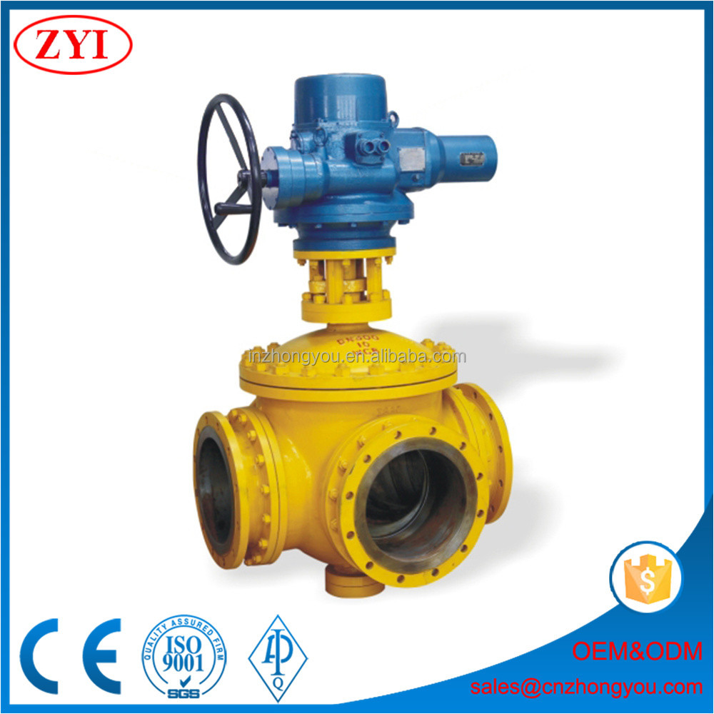 Factory customized PN10 low pressure carbon steel four way ball valve