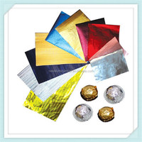aluminium foil for coin chocolate wrapper,aluminium chocolate foil wrapper with customized specific,gold silver and colored
