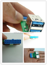 USB3.0 adapter - 2 USB 3.0 ports to 20-pin mainboard connector