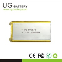 3.7v li polymer battery 1500mAh 503573 lipo batteries for samsung S3 S4